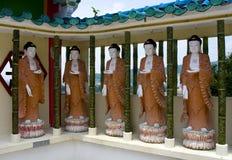 Estátuas de Buddha, Penang, Malaysia fotografia de stock