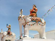 Estátuas de cavaleiros do elefante, Kathmandu, Nepal imagens de stock royalty free