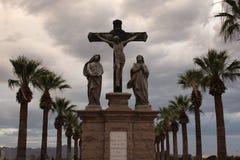 Estátuas de Crucufixtion fotografia de stock royalty free