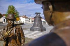 Estátuas de fala dos homens foto de stock royalty free