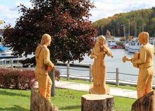 Estátuas de madeira foto de stock