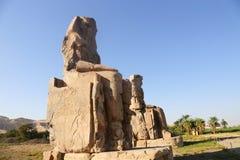 Estátuas de Memnon fotografia de stock royalty free