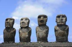 Estátuas de Moai na Ilha de Páscoa Imagem de Stock
