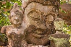 Estátuas de pedra da Buda Imagens de Stock Royalty Free