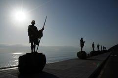 Estátuas de reis de Guanche em Candelaria, Tenerife Fotos de Stock Royalty Free