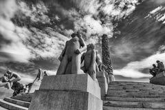 Estátuas de Vigeland no parque de Frogner Fotografia de Stock