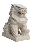 Estátuas do leão no estilo chinês no fundo branco Foto de Stock Royalty Free