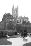 Estátuas do rei Ethelbert e rainha Bertha Canterbury, Kent, Reino Unido Imagem de Stock