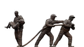 Estátuas dos bombeiros Fotos de Stock