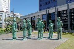 Estátuas dos fazendeiros do camponês em San Jose, Costa Rica imagens de stock