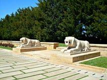 Estátuas dos leões Fotografia de Stock Royalty Free