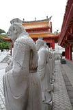 72 estátuas dos seguidores do templo de Confucius foto de stock royalty free