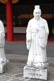 72 estátuas dos seguidores do templo de Confucius imagens de stock royalty free