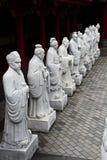 72 estátuas dos seguidores do templo de Confucius fotos de stock royalty free
