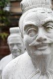72 estátuas dos seguidores do templo de Confucius fotografia de stock royalty free