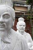 72 estátuas dos seguidores do templo de Confucius fotografia de stock