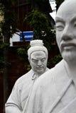 72 estátuas dos seguidores do templo de Confucius imagem de stock