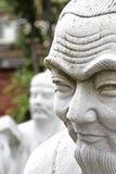 72 estátuas dos seguidores do templo de Confucius fotos de stock
