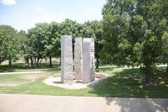 Estátuas em Richard Greene Linear Park, Arlington, Texas imagens de stock
