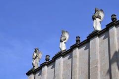 Estátuas Ethiopian (quarto para o texto) fotografia de stock royalty free