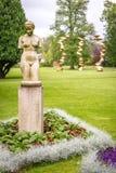 Estátuas no jardim botânico da associação do jardim, Gothenburg Fotografia de Stock