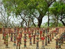 Estátuas no jardim de rocha Foto de Stock