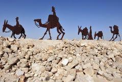 Estátuas no Negev, Israel do camelo Fotos de Stock Royalty Free