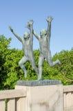 Estátuas no parque de Frogner Imagens de Stock Royalty Free