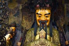 Estátuas no templo de Thien Hau, no Ho Chi Minh City ou no Saigon, Vietname imagem de stock royalty free