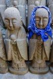 Estátuas pequenas de Jizo no templo de Hase-dera no kama Kura Foto de Stock Royalty Free