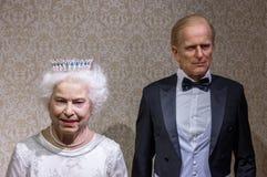 Estátuas reais britânicas dos pares imagem de stock royalty free