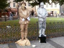 Estátuas vivas Imagens de Stock