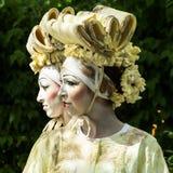 Estátuas vivas - mulheres japonesas Fotografia de Stock Royalty Free