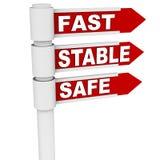 Estável e seguro rápidos Fotografia de Stock
