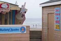 Estância balnear BRITÂNICA fora da estação Fotos de Stock Royalty Free