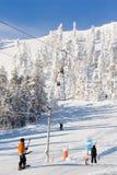 Estância de esqui Fotografia de Stock