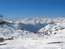 Estância de esqui Fotos de Stock Royalty Free
