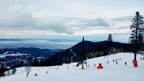 Estância de esqui Fotografia de Stock Royalty Free