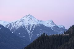 Estância de esqui alpina Serfaus Fiss Ladis em Áustria Fotografia de Stock Royalty Free