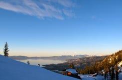 Estância de esqui celestial Imagem de Stock