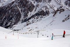 Estância de esqui Chimbulak Imagem de Stock