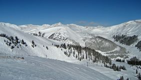 Estância de esqui da bacia do Arapahoe Imagens de Stock