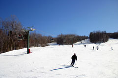 Estância de esqui da montanha do Loon foto de stock