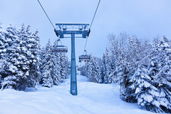 A estância de esqui das montanhas Zell-estar-Vê Áustria Fotos de Stock Royalty Free