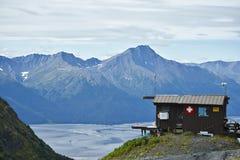 Estância de esqui de Talkeetna, transporte interior de Alaska pelo trem Foto de Stock