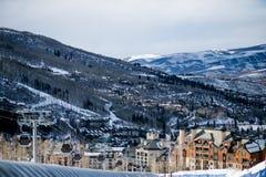 Estância de esqui do inverno Fotografia de Stock