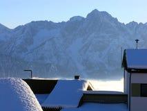 Estância de esqui em Áustria foto de stock