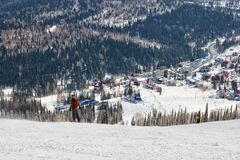 Estância de esqui em Sheregesh Fotografia de Stock