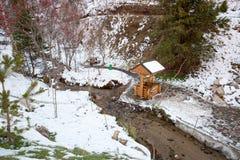 Estância de esqui Forest Tale perto de Almaty, Cazaquistão foto de stock