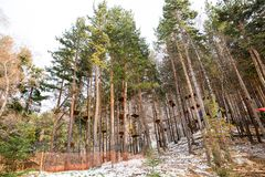 Estância de esqui Forest Tale perto de Almaty, Cazaquistão imagens de stock royalty free